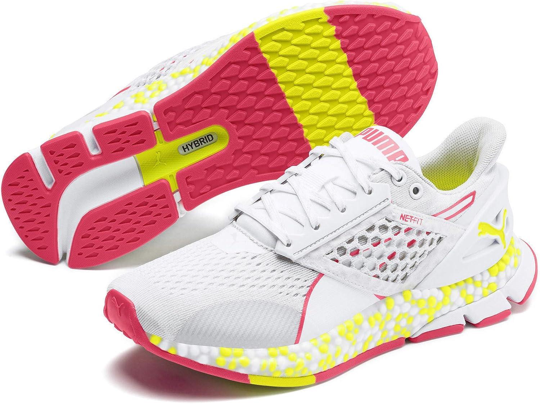 HYBRID Netfit Astro Damen Laufschuhe Weiß-Gelb Alert-Pnk Alert 4