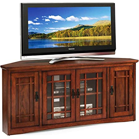 Amazon Com Leick Westwood Corner Tv Stand 60 Inch Cherry Hardwood Furniture Decor