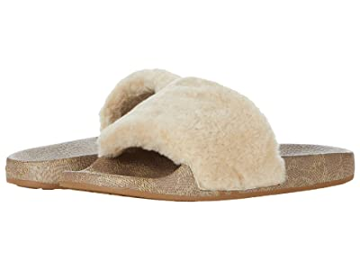 COACH Ulla Slide (White Shearling) Women