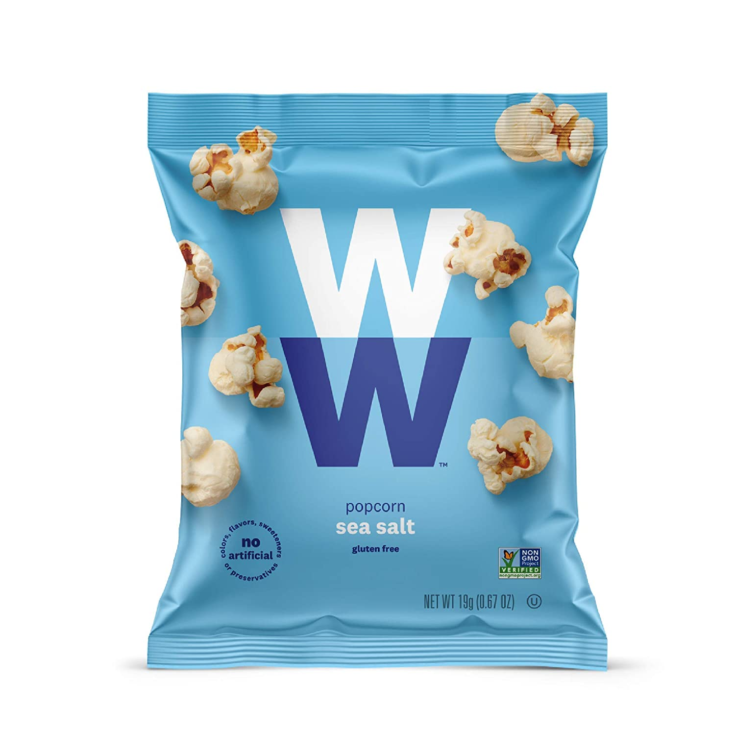 WW Sea Salt Max 54% OFF Popcorn - Gluten-free SmartPoints 2 Manufacturer direct delivery Total 12 Bags
