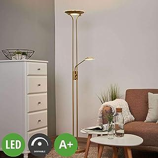 LED Lámpara de pie 'Aras' en Dorado hecho de Metal e.o.