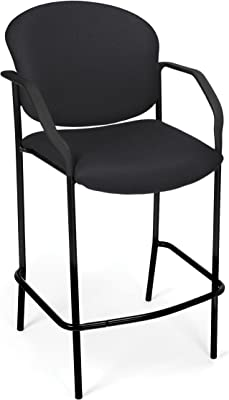 OFM Cafe Chair with Arms, Deluxe, Black