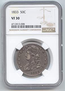 1833 Capped Bust Half Dollar VF-30 NGC