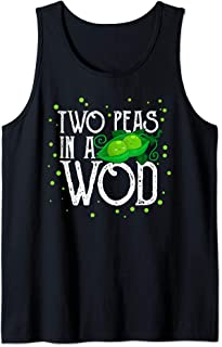 Two Peas in a WOD Workout Gym Partner Fitness Vegan Running Tank Top