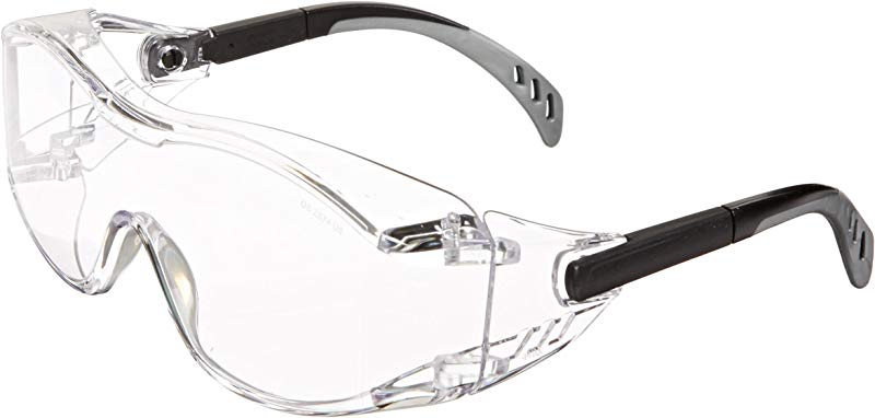 Gateway Safety 6980 Cover2 Safety Glasses Protective Eye Wear Over The Glass OTG Clear Lens Black Temple