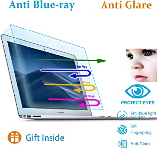 (2 Pack) Eyes Protection Filter Fit MacBook Air 13 Inch A1369 A1466 Anti Blue Light & Glare Screen Protector Reduces Digital Eye Strain, Filter Out Blue Light to Help You Sleep Better