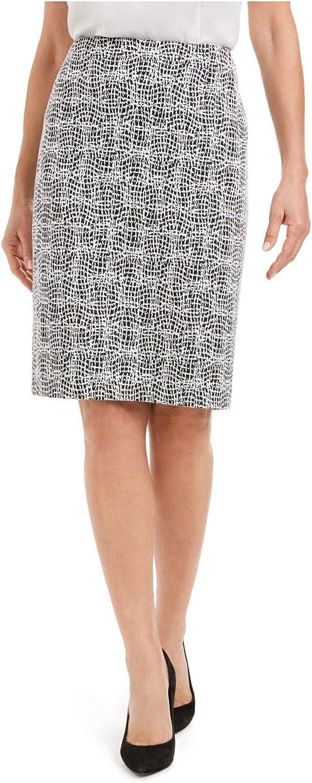 Kasper Women's Knit Metallic Jacquard Skirt