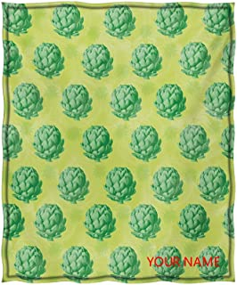 Artichoke Perfect Blanket, Field of Healthy Organic Artichokes Greens Vegan Vegetarian Way DIY Blanket, Soft Summer Coolin...