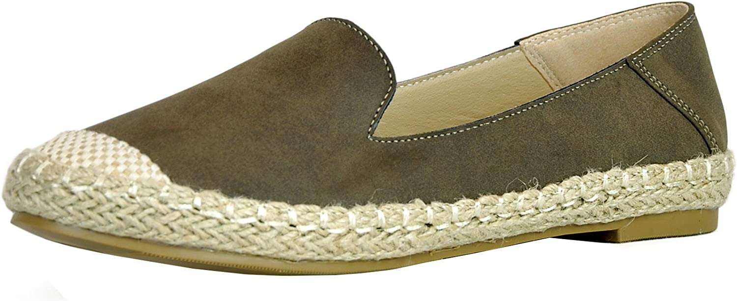Cambridge Select Women's Slip-On Closed Round Toe Woven Braided Rope Espadrille Loafer Flat