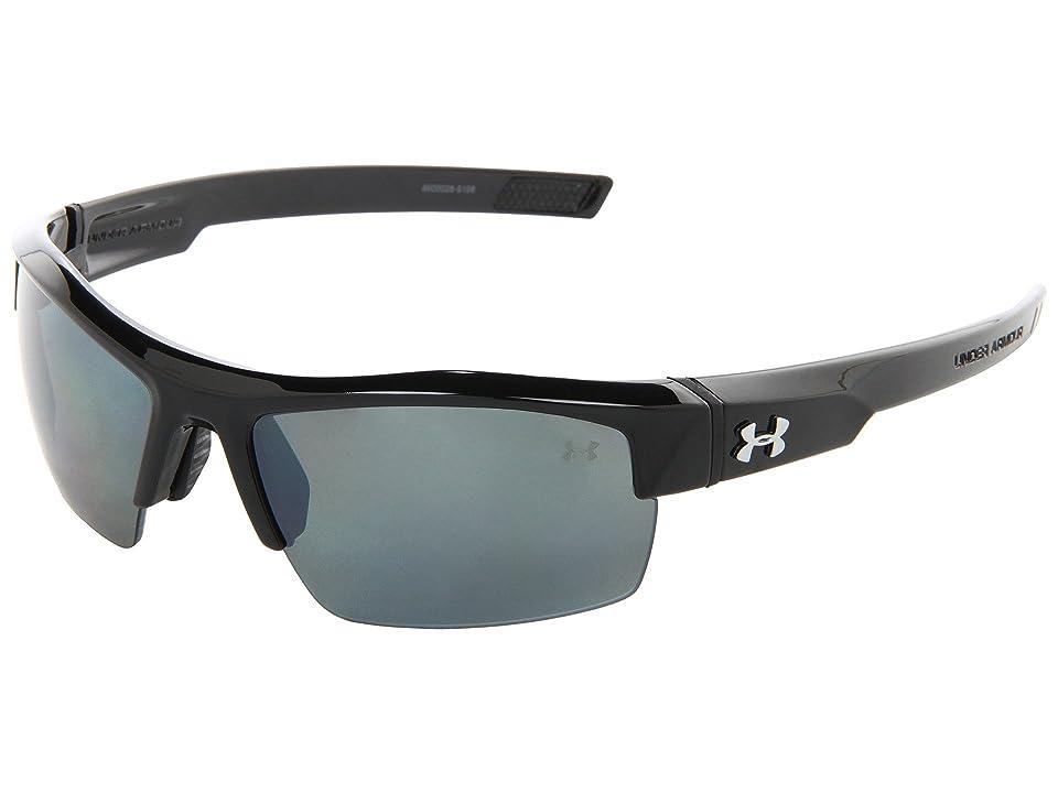 Under Armour UA Igniter Polarized (Shiny Black/Gray Polarized Multiflection) Athletic Performance Sport Sunglasses