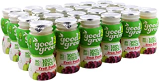 good2grow Fruit Punch Juice Bottles, 6-Ounce Good2grow Refills, 24 Pack - No Sugar Added, 100% Juice, non-GMO, BPA-Free, Good Vitamin C Source - Use with Spill-Proof Good2grow Toppers