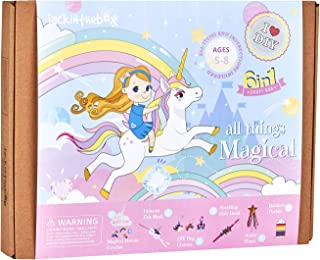 Unicorn Themed Art and Craft Kit for Girls | 6 Craft Projects-in-1 | Best Girl  Ages 5 to 8 Years | Includes Beautiful Fel...