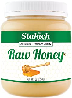 Stakich RAW HONEY - 100% Pure, Unprocessed, Unheated, KOSHER (80 Ounce)