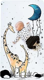 JumpOff Jo Cotton Crib Sheet, Giraffe and a Calf
