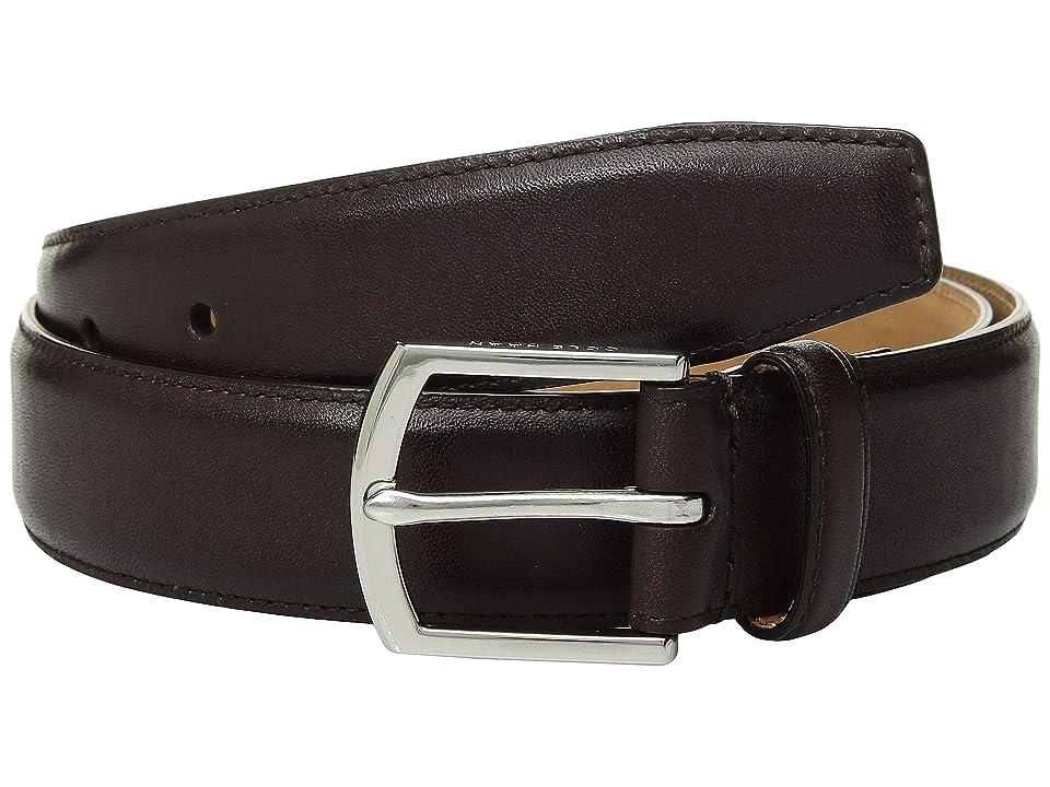 Cole Haan 32 mm Burnished Smooth Leather Belt (Chestnut) Men