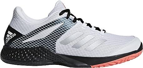 adidas Men's Adizero Club Tennis Shoe, Core Black Signal Coral FTWR White, 12 UK/8 us
