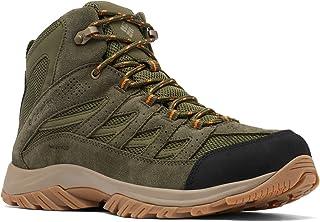 حذاء المشي لمسافات طويلة للرجال من Columbia Crestwood Mid مقاوم للماء, (أخضر هايكر/ برتقالي فاتح), 42 EU Wide