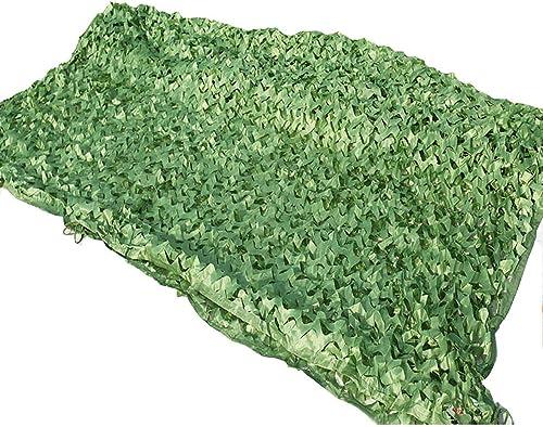 LJJL Filet d'ombrage Filet De Camouflage Anti-aérien Filet De Jungle Extérieur Décoration Intérieure Nette Couverture De Montagne Vert Filet De Sécurité Auvents (Taille   10 × 25 M)