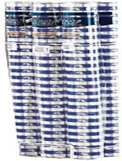 "Creative Converting Banquet Table Blue Gingham Plastic Tablecover Roll, 40"" x 100ft"