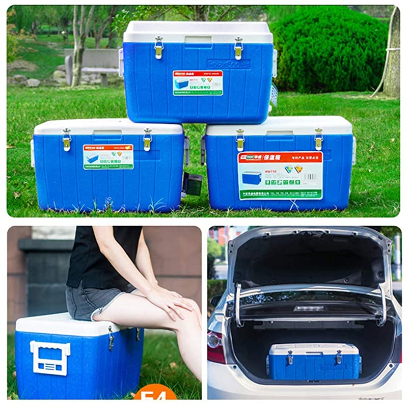 XQY Car Fridge-Cooler Box 65L Deep Freeze Zipperless Hardbody Cooler - Performance Beer Beverage for Camping, Bbqs, Tailgating & Outdoor Activities jpimhjpm403322