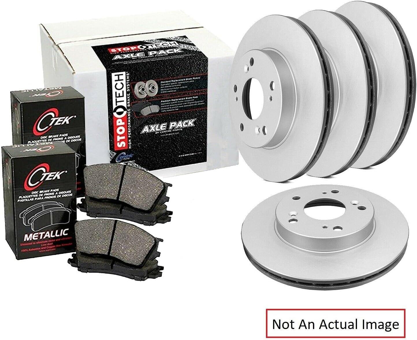 Save money Semi-Metallic Front and Rear Disc Brake Rotor Pad overseas Kit