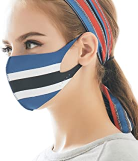 MASK Protective Fashion Air Mask | Washable and Reusable | Double Layered Face Mask | Stripes Blue X White X Black