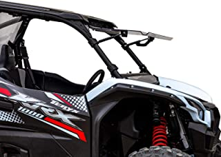 SuperATV Scratch Resistant Flip Windshield for the Kawasaki Teryx KRX 1000 (2020+) - Can be Open, Vented, or Fully Closed!