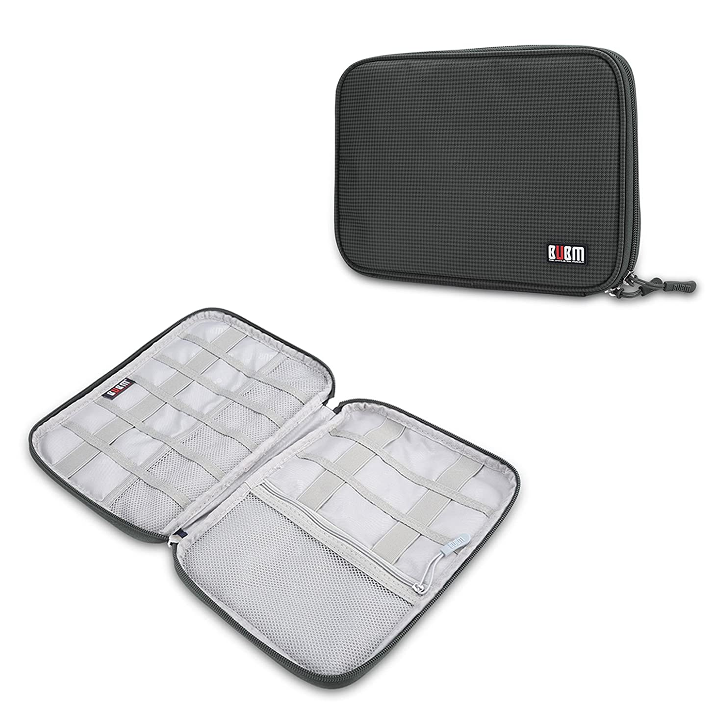 Travel Cable Electronic Accessories Organizer - Gadget Carrying Storage Bag, Pocket Juice Portable Charger for Hard Drives, USB Cables, Charger, iPhone (Gray)