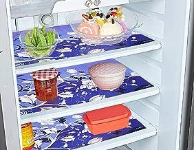 مفارش ادراج متعددة الاغراض للثلاجة من بلاستيك بي في سي بتصميم الزهور من كوبر اندستريز 6 قطع (ازرق)