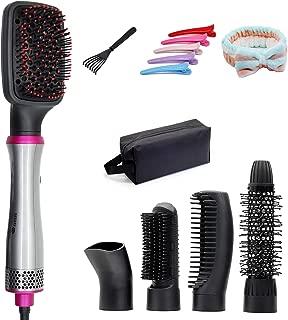 Hot Air Brush, 5 In 1 Hair Dryer Brush Multifunctional One Step Hair Styler & Volumizer (Grey, 110V 120V US Outlet)