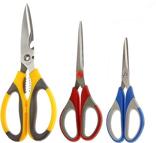Petals Stainless Steel Kitchen Scissor Set, 3-Pieces (Multicolour) product image