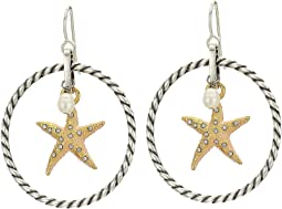 Under The Sea Starfish French Wire Earrings