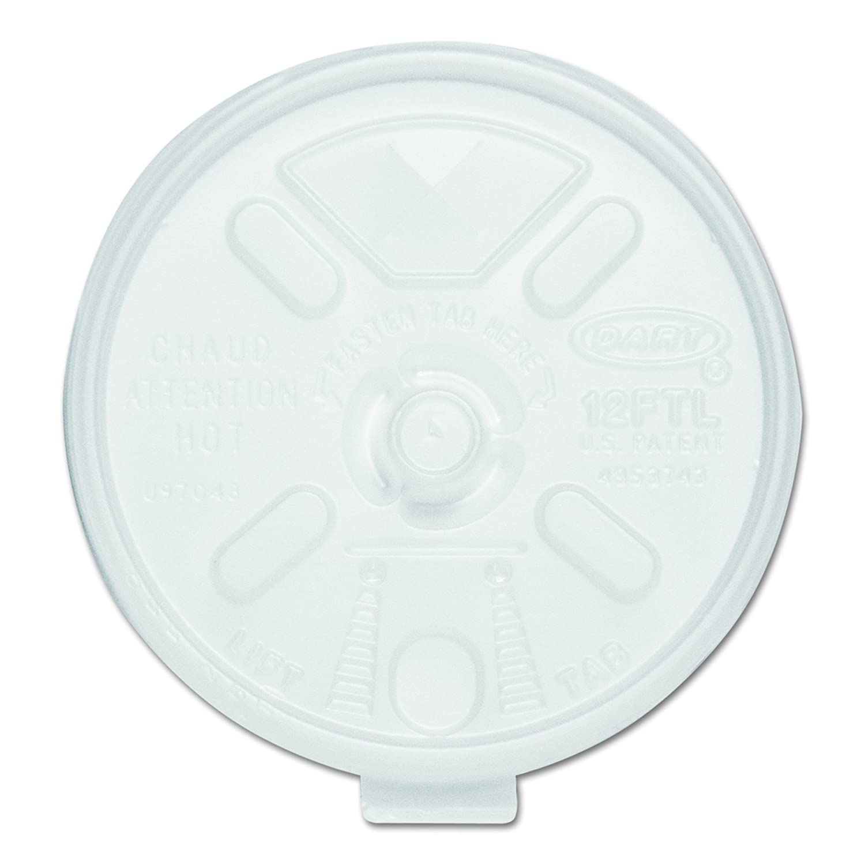 Max 89% OFF 5 ☆ popular Dart 12FTLS Translucent Lift N' Lock of Straw Case Slotted Lid