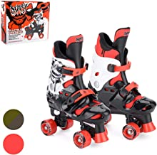 Osprey Kids Roller Skates for Boys - Adjustable Sizing Quad Skates for Beginner Children - Multiple Designs