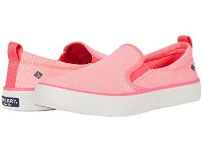Sperry Crest Twin Gore Washed Twill (Neon Pink) Women