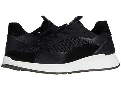 ECCO ST.1 Trend Sneaker (Black/Black/Black/Black Calf Suede/Yak Leather/Yak Nubuck/Textil) Women