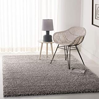"Safavieh California Premium Shag Collection SG151-7575 Area Rug, 5` 3"" x 7` 6"", Silver"