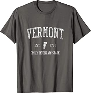 Retro Vermont T Shirt Vintage VT Sports Tee Design