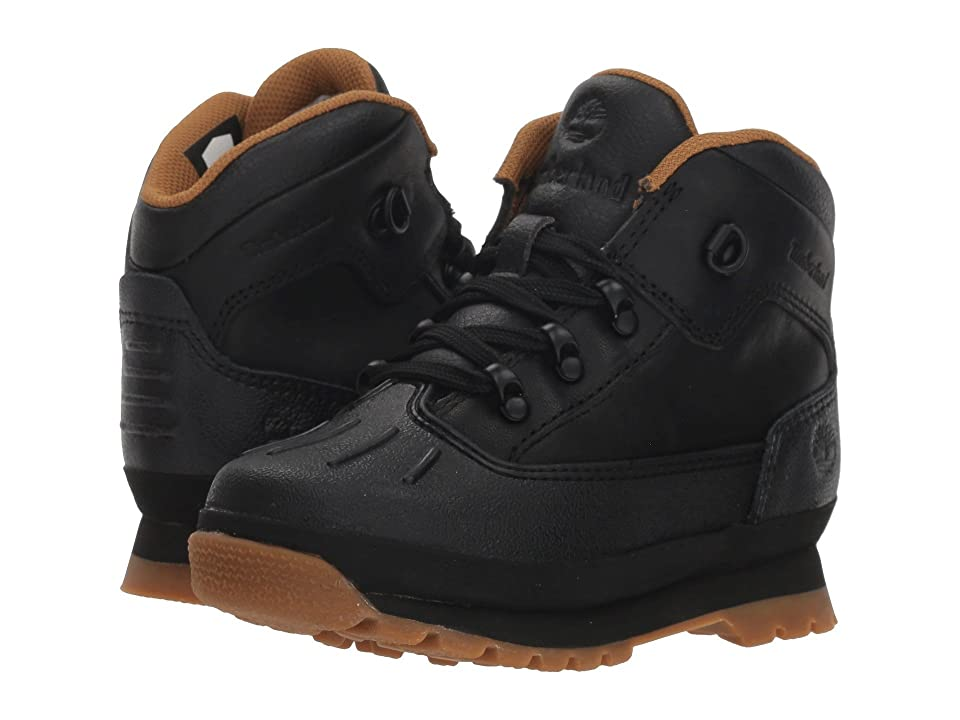 Timberland Kids Euro Hiker Shell Toe (Toddler/Little Kid) (Black Full Grain) Kid