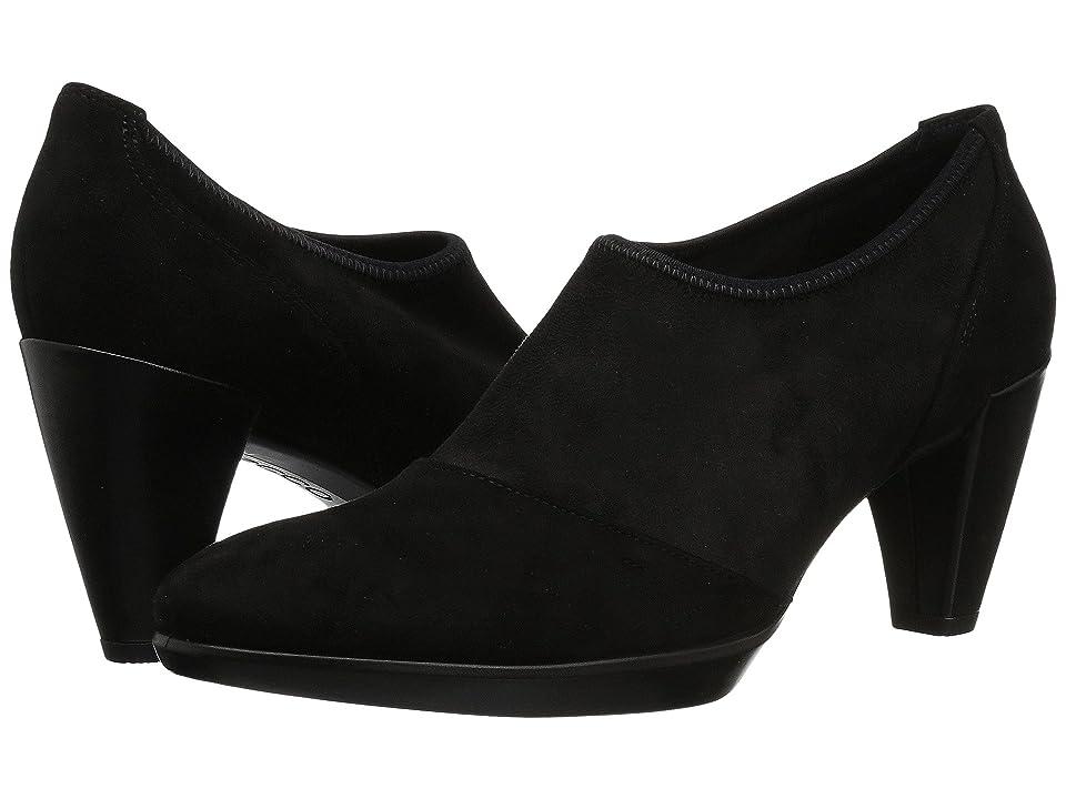 ECCO Shape 55 Plateau Shootie (Black/Black Textile/Calf Leather) Women