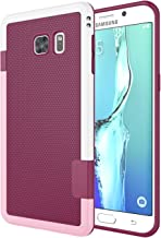 Galaxy S6 Edge Plus Case, Jeylly [3 Color] Slim Hybrid Impact Rugged Soft TPU & Hard PC Bumper Shockproof Protective Anti-Slip Case Cover Shell for Samsung Galaxy S6 Edge+ Plus G928 - Wine