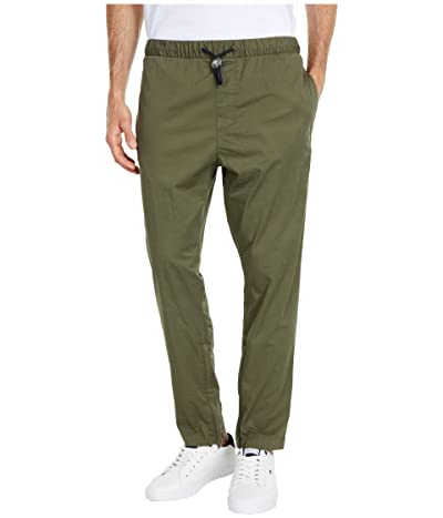 Tommy Hilfiger Adaptive Jogger Sweatpants with One Handed Drawstring and Zippers (Army Green) Men