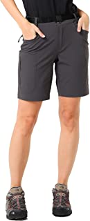 MIER Women's Lightweight Hiking Shorts Stretchy Quick Dry Cargo Shorts with 5 Pockets for Outdoor, Water Resistant