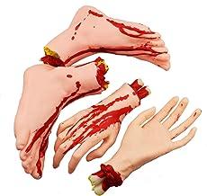 Blutige Abgetrennte Hand Körperteile Halloween Deko Grusel Horror Schocker DE