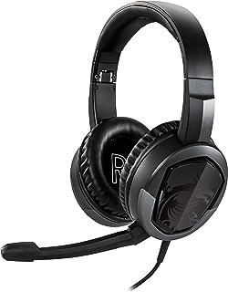 MSI Diadema para Videojuegos, Ligero y Plegable, diseño de Diadema 7.1, Sonido Envolvente estéreo para Juegos (Immerse GH30 V2), Negro, Grande