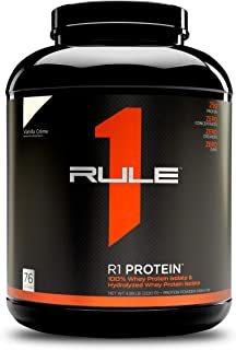 R1 Protein Whey Isolate/Hydrolysate, Rule 1 Proteins (76 Servings, Vanilla Creme)