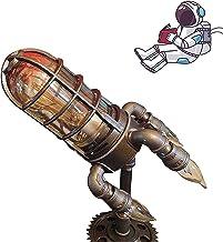 Steampunk Raketlamp met 4 E-12 lampen tafellamp, retro raketlamp, unieke cadeaus voor kinderen vader (Britse voorschriften)