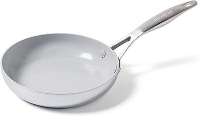 "GreenPan Venice Pro Stainless Steel Healthy Ceramic Nonstick Light Gray Frypan, 8"""