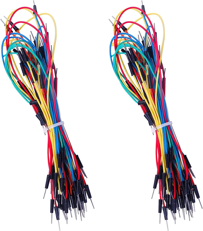 ELEGOO 130pcs Solderless Flexible Breadboard Jumper Wires Male to Male Compatible with Arduino Breadboard