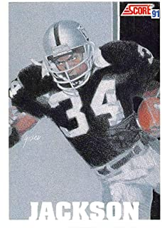 1991 Score Football #641 Bo Jackson Los Angeles Raiders Official NFL Trading Card